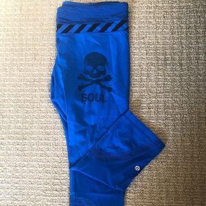Lululemon for Soul Cycle blue leggings